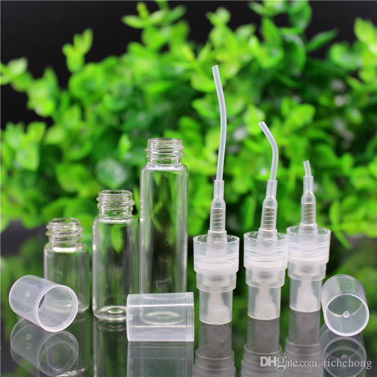 2 ml 3 ml 5 ml botella de perfume botella de cristal vacía nebulizador cosméticos botella de tóner aerosol de la botella cosmética de empaquetado de contenedores