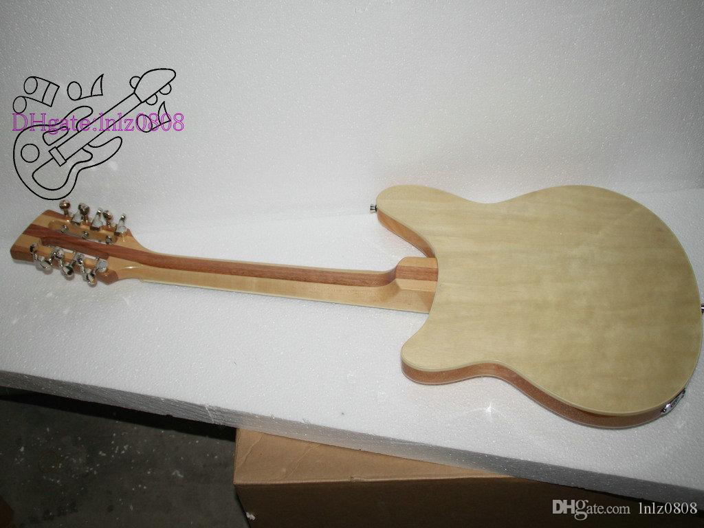맞춤형 Natural 370/12 Strings Guitar Midnite 3 픽업 325 일렉트릭 기타 New Arrival 고품질 무료 배송