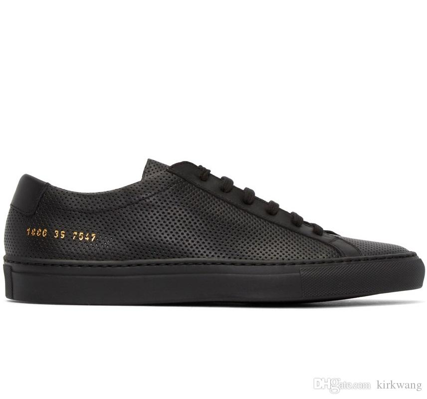 Sneakers for Men, Black, Leather, 2017, 6.5 9.5 Common Projects