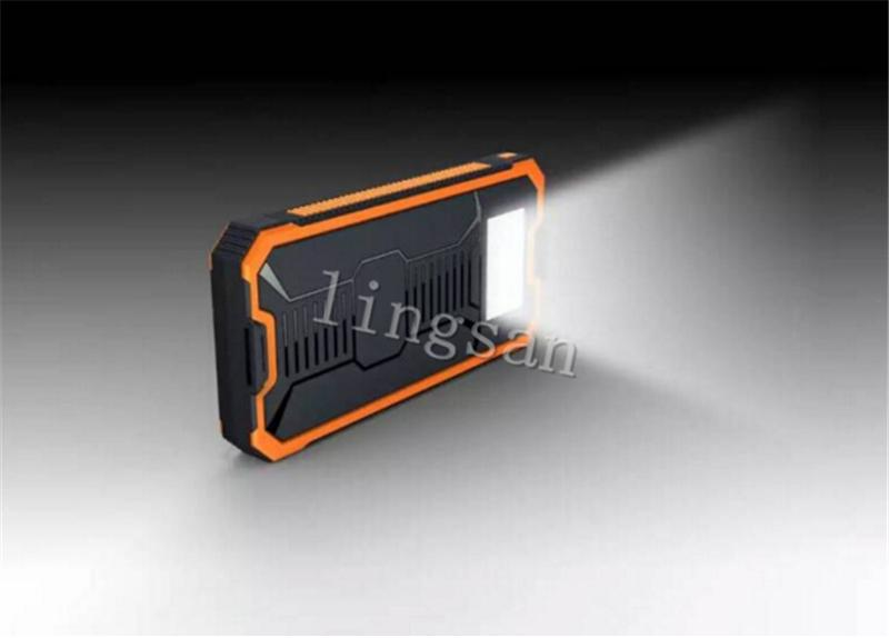 8800mah Solar power bank Charger Battery 8800 mAh Solar Panel Dual Charging Ports portable power bank for All Cell Phone table PC MP3