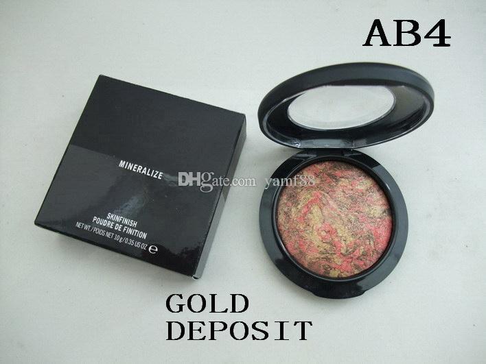 الشحن مجانا! جديد ماكياج المعدنية تمعدن Skinfinish Powdre دي Finition الوجه مسحوق 10G ، 10 لون تختار