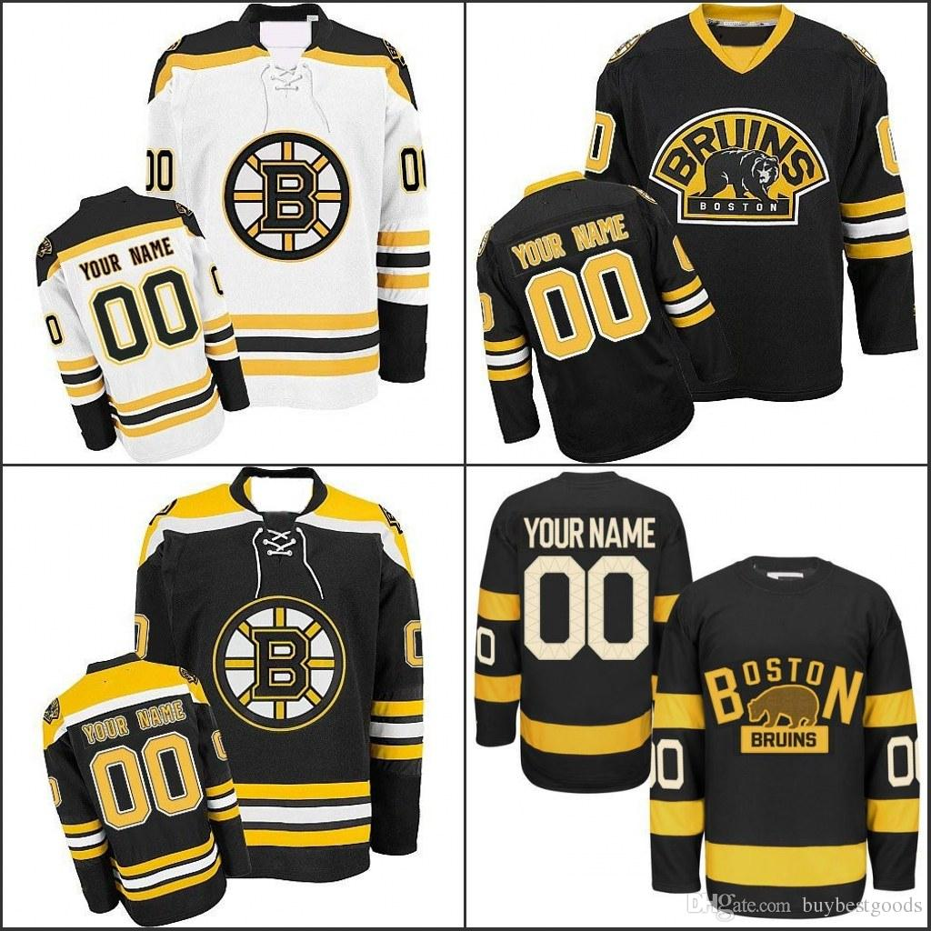 sports shoes 725c8 8a01a Customized Boston Bruins Jerseys Custom Any Name Any Number Authentic Ice  Hockey Jerseys Stitched Personalized Jersey Size S-3XL