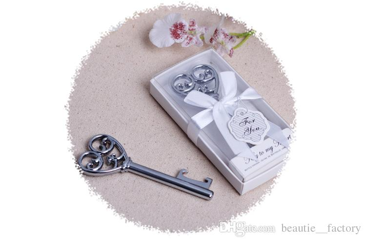 Wine Beer Bottle Opener Key To My Heart Shaped Bridal Party Wedding Favor Gift New