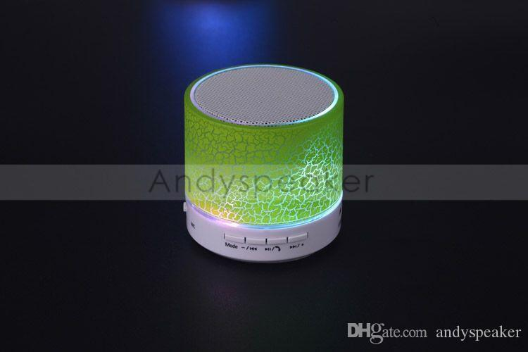 Bluetooth Speaker Wireless Speaker Bling Bling LED A9 Subwoofer Stereo Player for IOS Android Phone High Quality /up