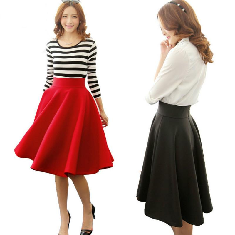 0869db6dc1e31 2019 2016 New Women Clothes Spring Fashion Trend In Europe And America Sexy  Red Skirt High Waisted Long Maxi Tutu Skirts Women Plus Size From  Lucy guoli