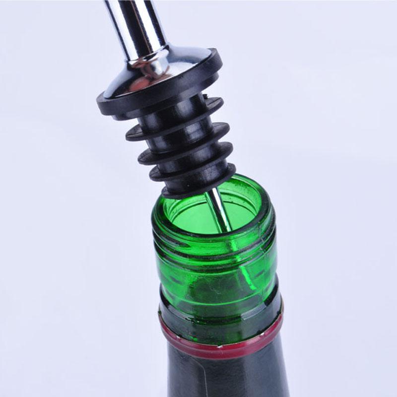 Neue Edelstahl Flaschenverschlüsse Alkohol Geist Ausgießer Dispenser Free Flow Weinflasche Gießen Auslauf Stopper Barware DHL
