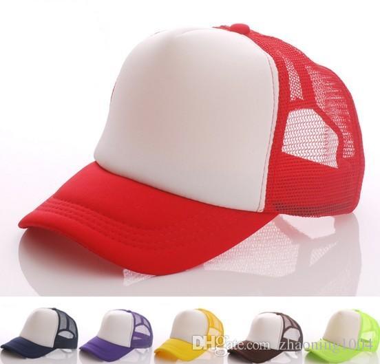 Desinger Plain Trucker Caps Custom Printing Logo Blank Baseball Mesh ... 7a5d33c925a