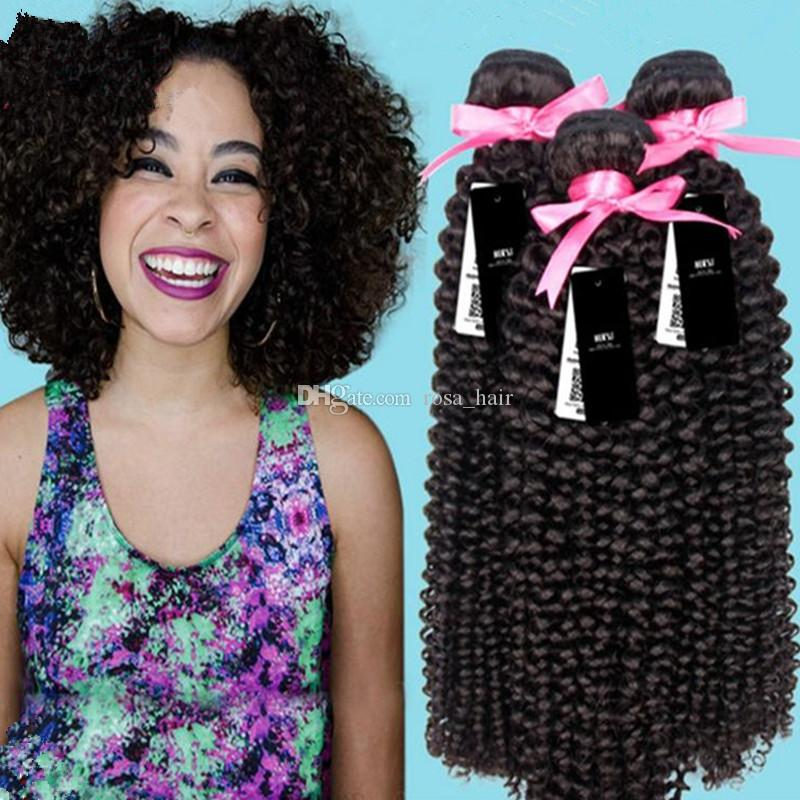 8a 100 Brazilian Human Hair Weave Jerry Curls Natural Color Jerry