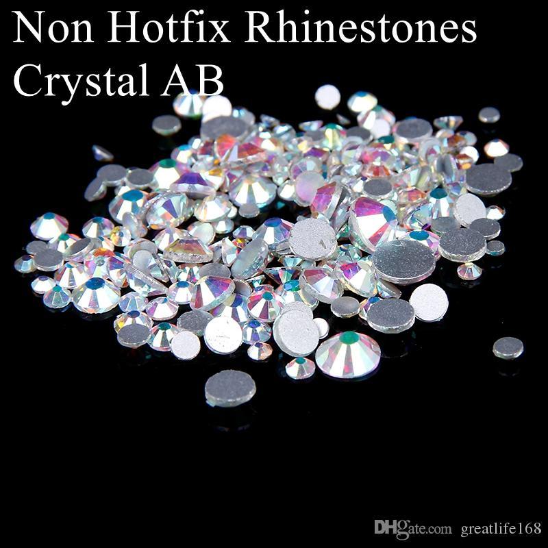SS3-SS10 Non Hotfix Crystal Rhinestones Glitter White Crystal AB ... 2023966a99b8