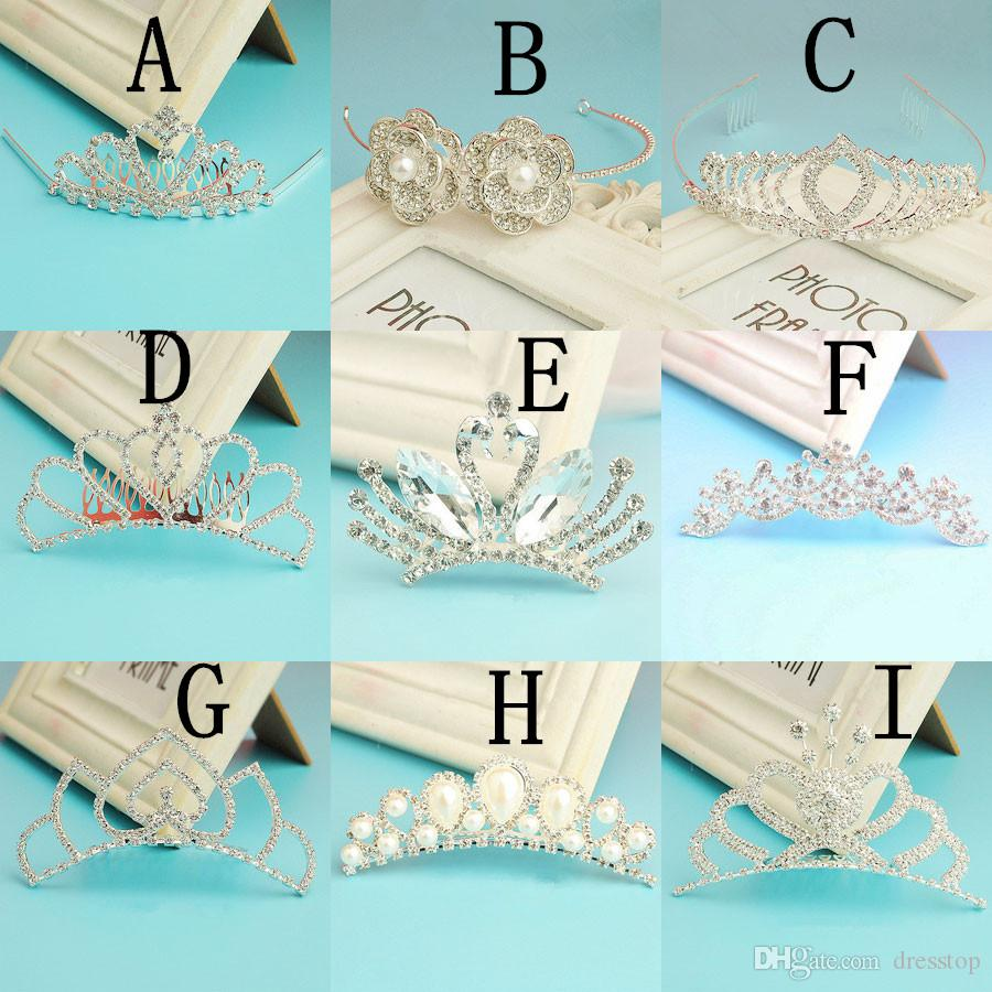 Luxury Different Types Wedding Tiaras Diamond Cryatal Empire Crown Bridal Headband For Bride Hair Jewelry Party Accessories Tiara