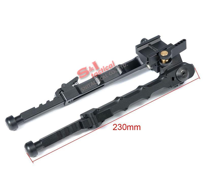Tático de Alumínio SR5 Tripé Quick Desanexar SR-5 QD Bipé fit 20mm trilho picatinny para o âmbito do rifle Preto