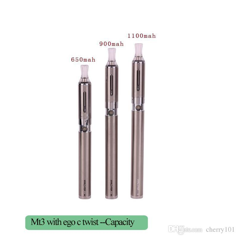 Vaporizer Pen eGo C Twist MT3 Blist Kit Electronic Cigarette EGO-C Twist Battery 650mah 900mah 1100mah with EVOD MT3 Atomizer in Blister Kit
