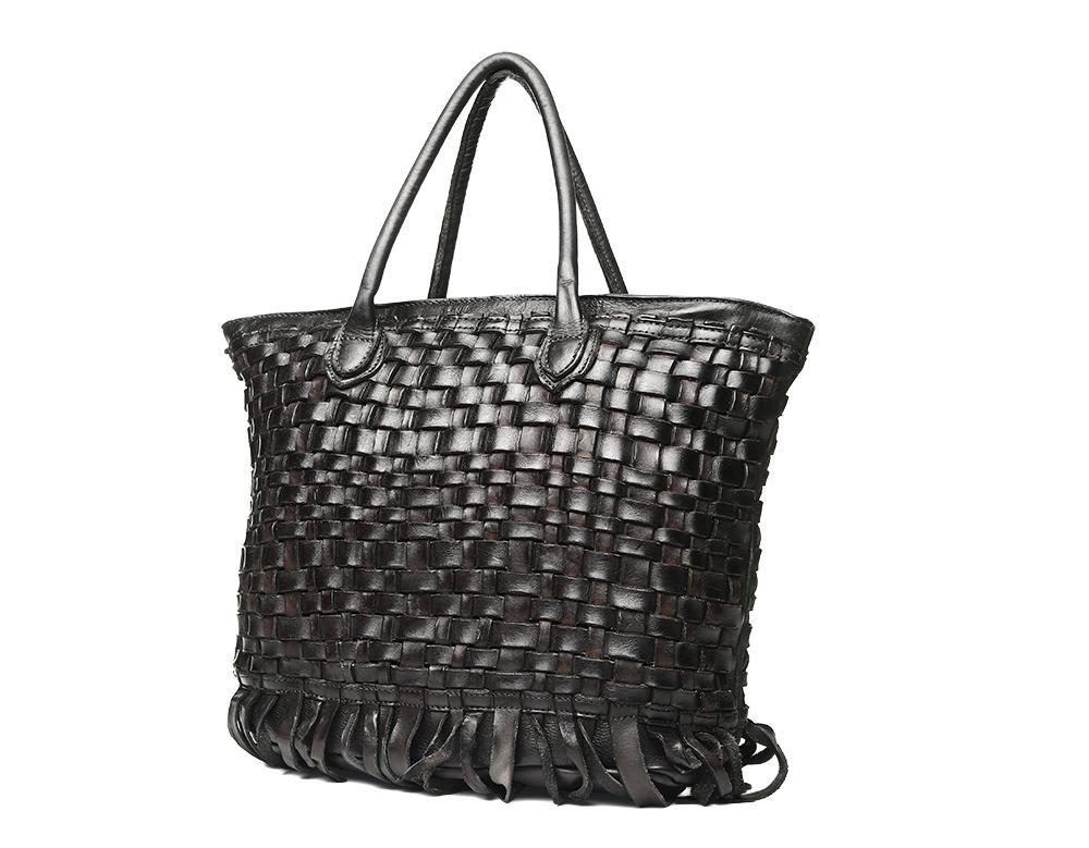 Womens Vintage Shoulder Bag Tote Top-Handle Purse Cross Body Big Capacity Handbag Vintage Style Tassel Shoulder Bag Crochet Bag