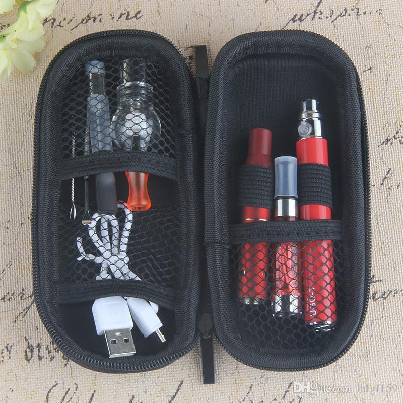 Großhandel 4 in 1 Starter-Kits CE4 Vaporizer CE3 dickes Öl vape Patronen Wachs AGO trocken herb e Flüssigkeit EGO USB Passthrough Faden 510 Batterie