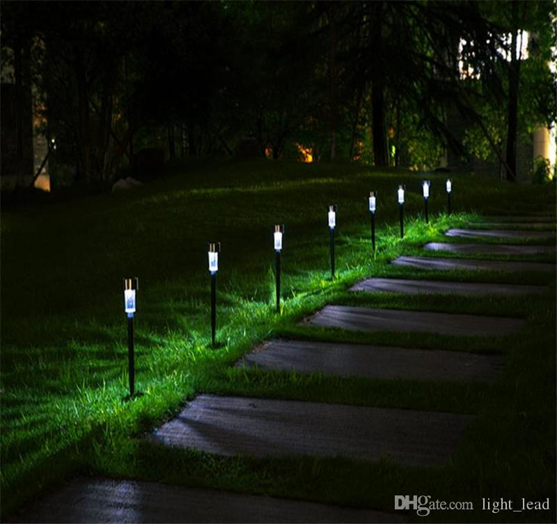 LED Solar Light Outdoor Solar Lawn Garden Lights Landscape Path Stake Solar Lamp Plastic LED Spike Lights