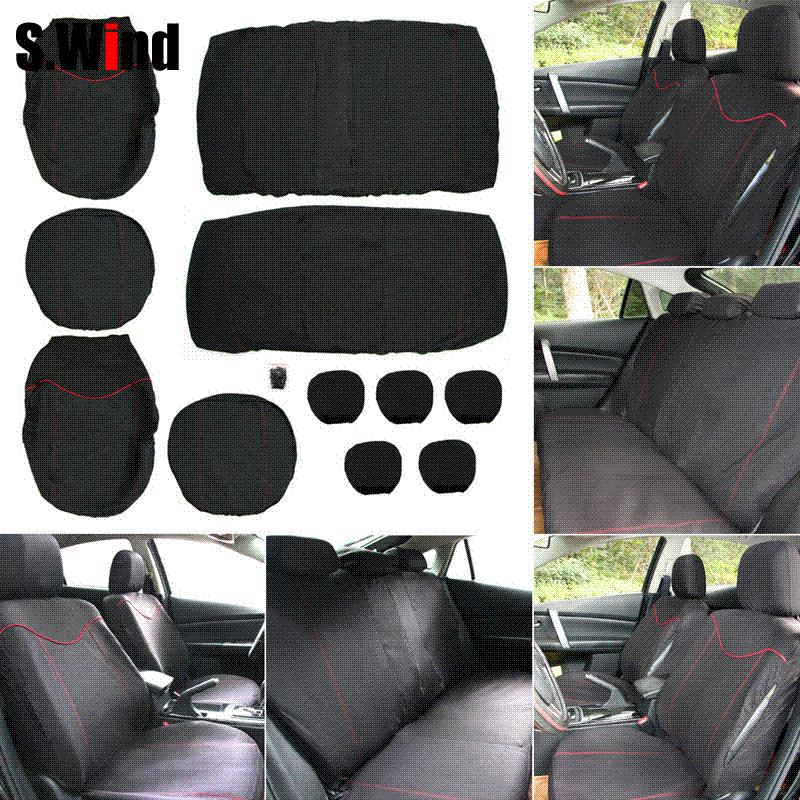 High Quality Car Seat Covers Universal 2mm Sponge Styling Low Back Cover With 5 Headrest For Infant Carriers