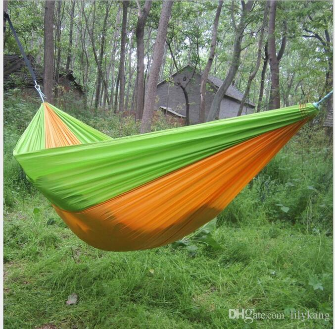 Astonishing 2016 Hot Selling Portable Parachute Travel Camping Hammock With Tree Straps Garden Kids Toy Hammock Chair Swing Bed Theyellowbook Wood Chair Design Ideas Theyellowbookinfo