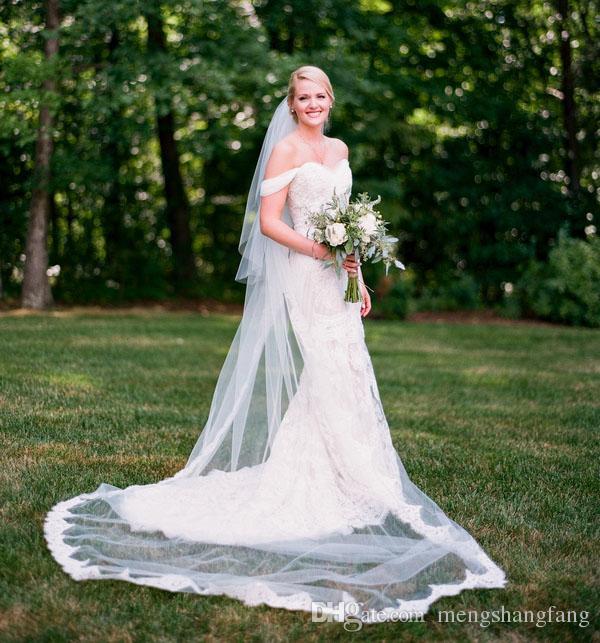 Plain Wedding Dress With Lace Veil Off 77 Quality Assurance