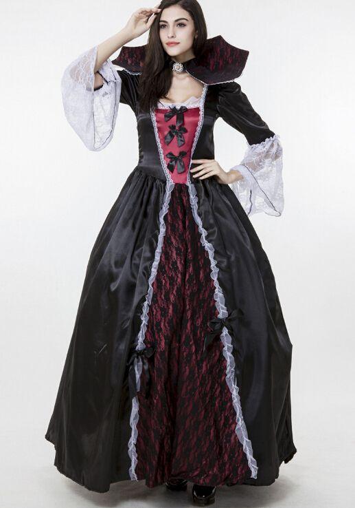 2016 Halloween Vampire Costumes Gothic Clothing Cosplay Empress ...