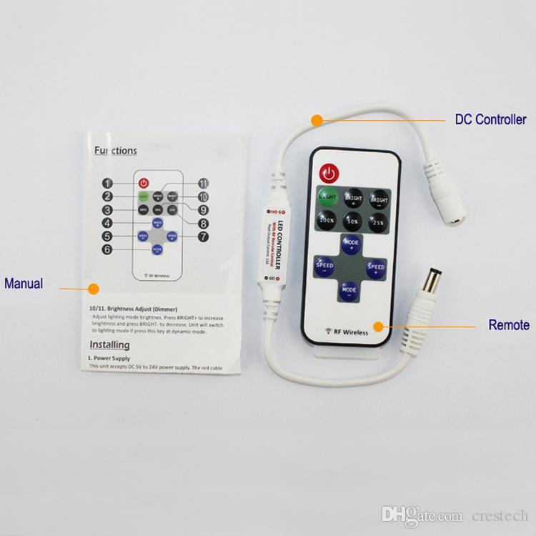 Dimmer CONDUZIU a Luz de Tira Acessórios Adaptador de Alimentação de Energia 5-24 V 12A Conector do Conector do Transformador de Iluminação Para 3528 5630