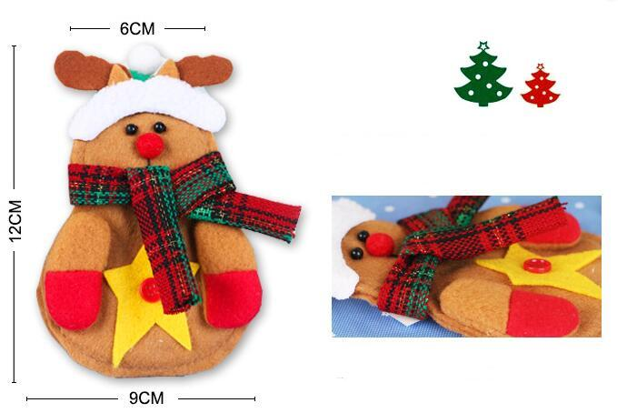 Navidad Papá Noel Muñeco de nieve Elk Cuchillo Tenedor Vajilla Cena Cubiertos Decoración