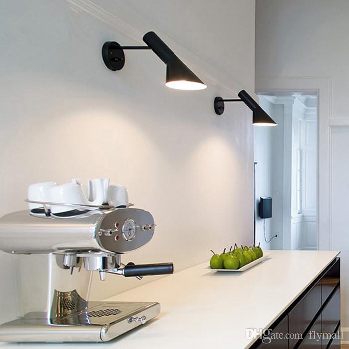 2018 red white black modern louis poulsen wall lamp creative aj wall lamps bedside wall lamp corridor light modern sconce 1 light indoor lighting from