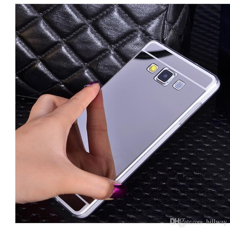 Mirror Case for iPhone X 5 6 7 8 Plus Pink Gold Bling Mirror Cover for Samsung J7 Prime J1 J2 J3 J5 A3 A5 A7 S6 S7 Edge S8 Plus Note 3 4 5 8