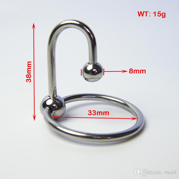 Stainless Steel Two bead Penis delayed gonobolia Ring,Male time delay ring,Glans ring,Penis Plug Urethral Dilators,Gay Sex Toy Adult product