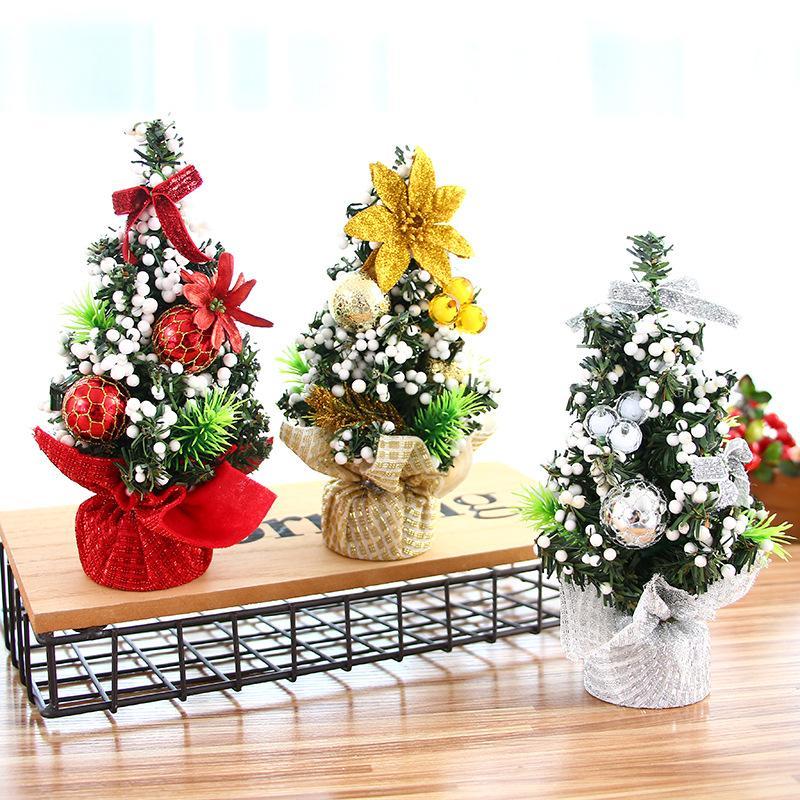 20cm Mini Christmas Trees Xmas Decorations Small Pine Tree ...