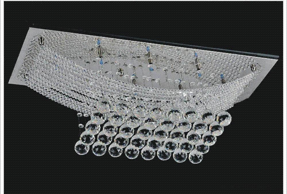 Plafoniere Cristallo E Acciaio : Acquista novità in acciaio inox lampadario di cristallo a soffitto