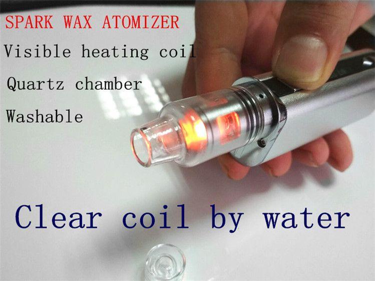 e dab wax vaporizer 510 wax quartz heating coil wax tank atomizer portable  smoking device box mod burning istick 30w /20w smoking tank