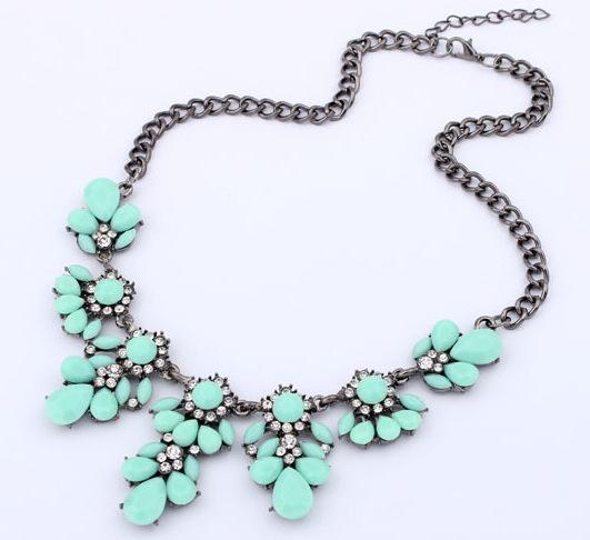 New boho venda quente flor do vintage colar de bolha de cristal gargantilha declaração bib mulheres colar de jóias collier bijoux
