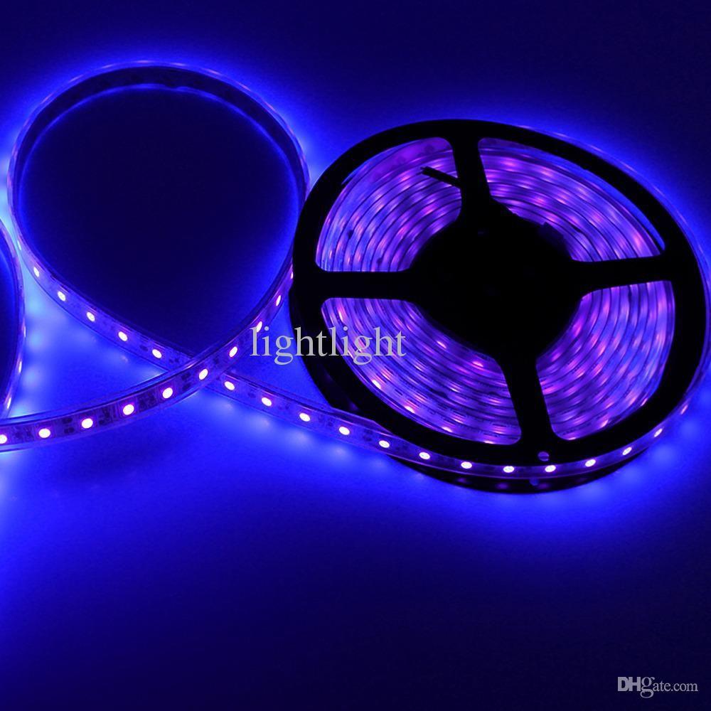도매 - 500 만 16 피트 방수 자외선 퍼플 블랙 라이트 스트립 5050 DC 12V 밤 낚시 보트 UV의 Blacklight 유연한 램프를 LED