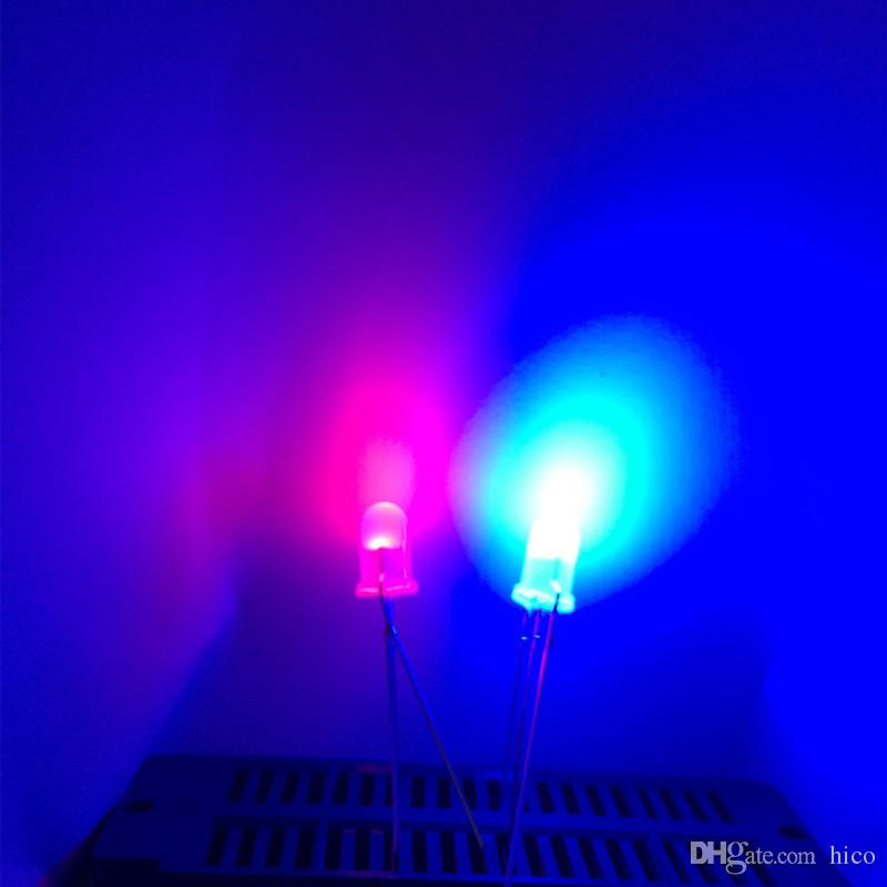 5mm led Bi-Color Diffused led diode Common Cathode common anode LED Round Light Beads with edge milky diffused /bag long lead