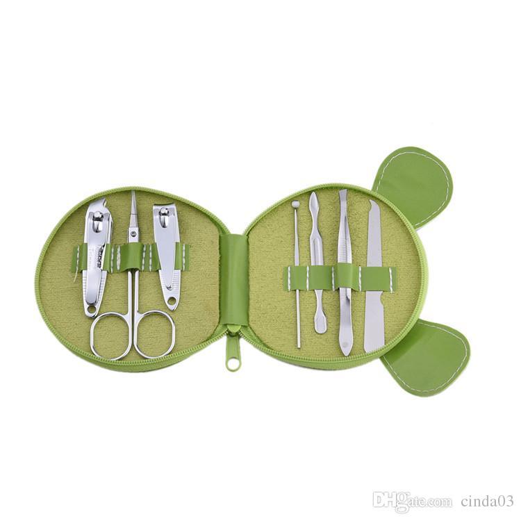 Cute Animals Nail Set Nail Clipper Eyebrow Scissor Cliper Ear Spoon Double-headed Dead Skin Nipper Art Manicure Kit