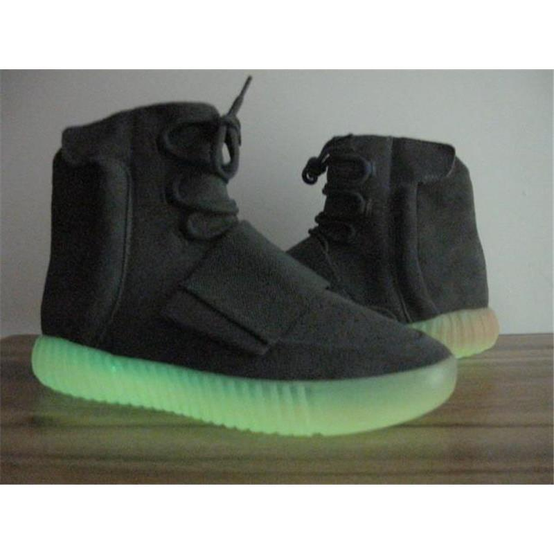 a9ccfa537 Boost 750 Light Grey Gum Glow In The Dark Kanye West Shoes ...