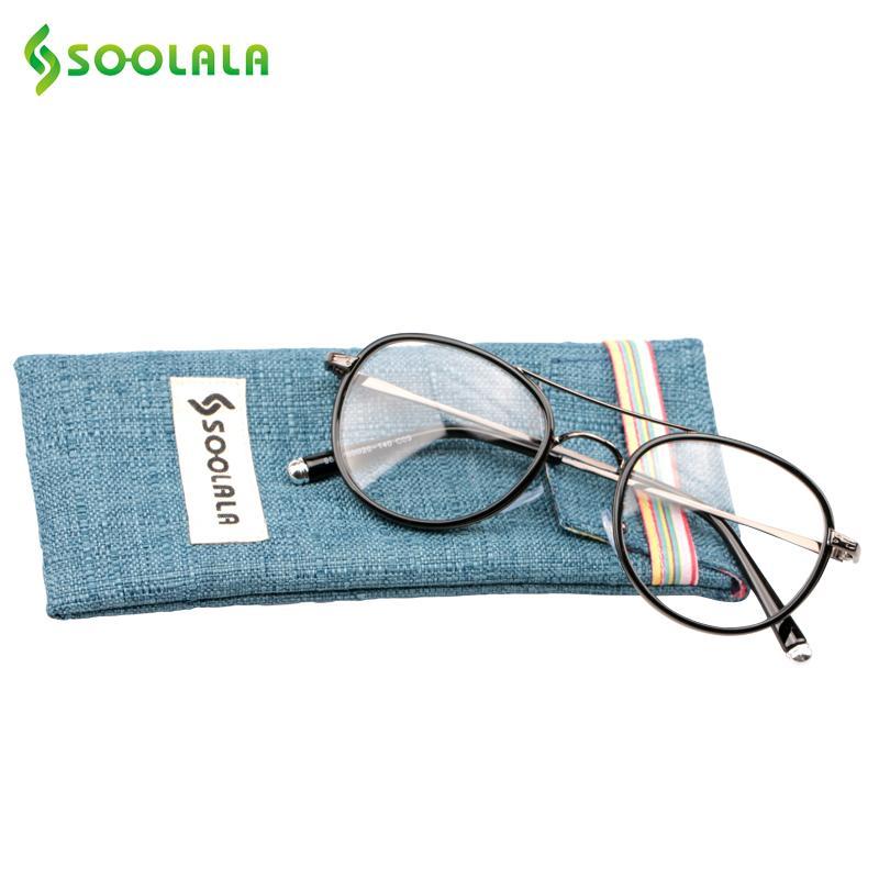 a692552825 Wholesale- SOOLALA Reading Glasses +1.0 +1.5 +2.0 +2.5 +3.0 +3.5 + ...