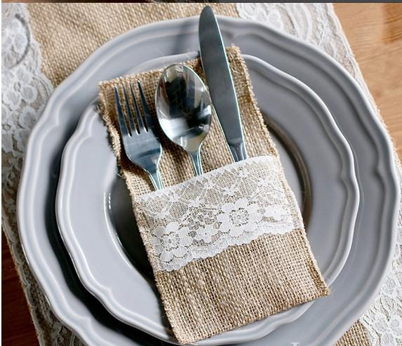 2018 wholesale wedding table decoration table decoration accessories 2018 wholesale wedding table decoration table decoration accessories burlap silverware holderscountry wedding lace jute bags for cutlery from aozhouqie junglespirit Images