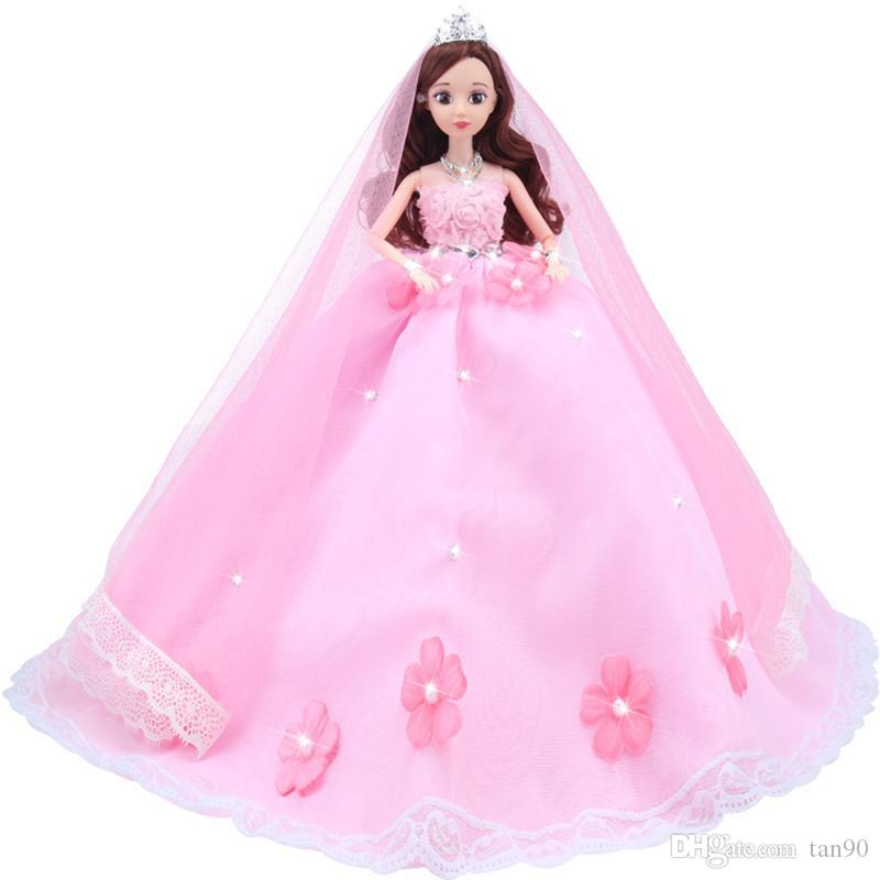Princess Pink And White Bridal Doll With Removable Wedding Dress ...