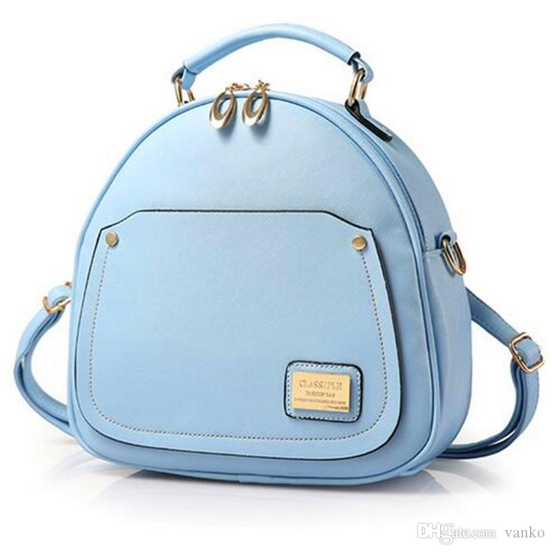 Fashion Hard Leather Women Backpacks For Ladies Cute Shoulder Bags ...