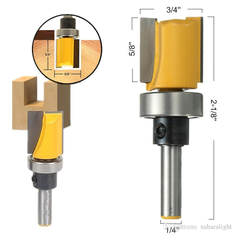 2018 New 1/4 Inch Shank Hinge Mortise Template Router Bit Drill Bit ...