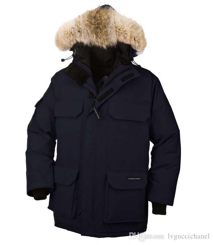 d11990f50011ef Acquista Marca Inverno Moda Canada Giacca Uomo Addensare Casual  Confortevole Ispessimento Warm Down Cappotti Piumino D'oca Cappotto  Invernale A $122.85 Dal ...