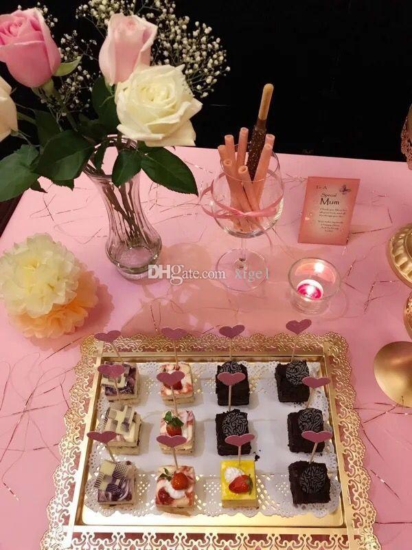 세 구매 웨딩 장식 과일 플레이트 케이크 스탠드 커피 티 안경 와인 트레이 웨딩 캔디 파티 용품을위한 디저트 트레이