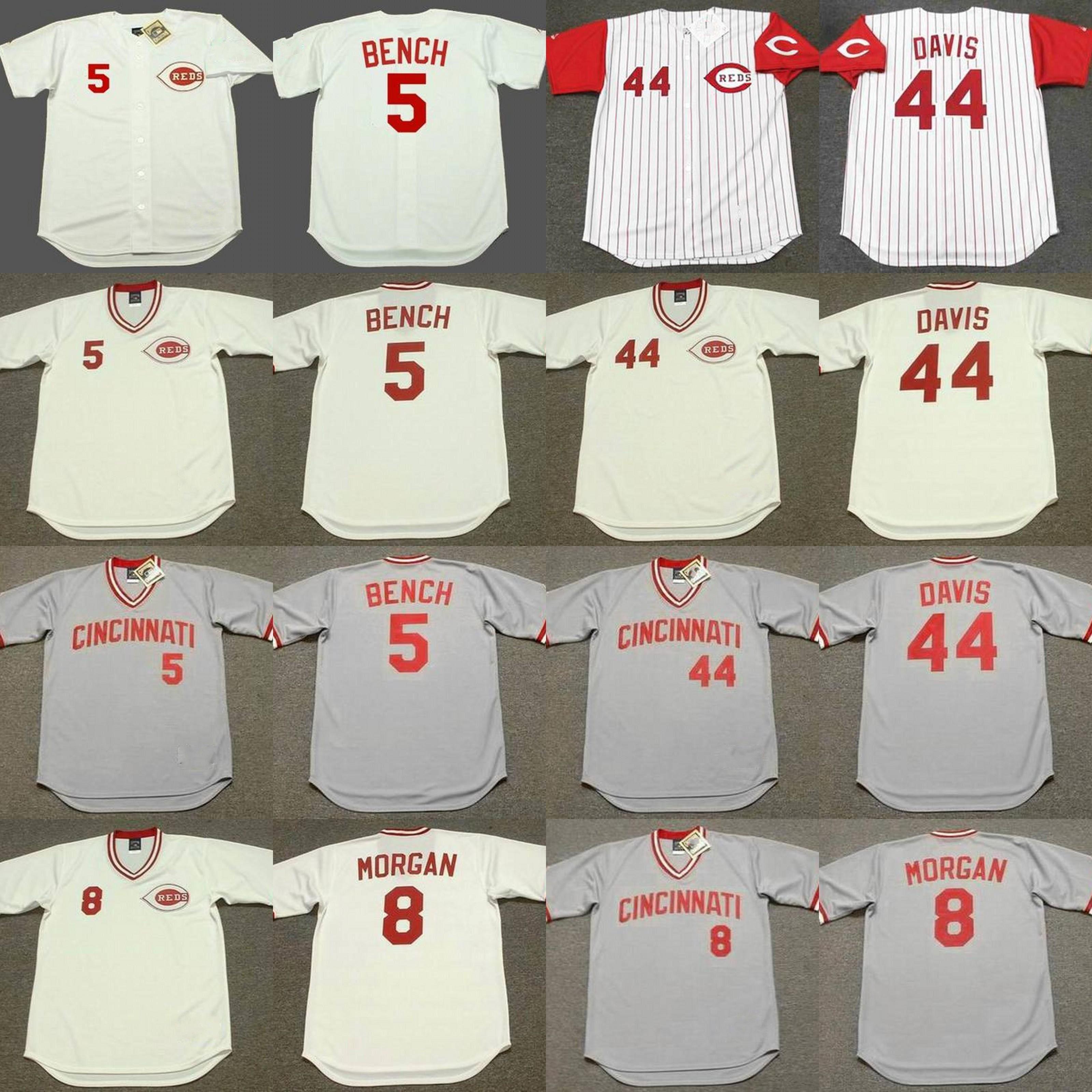 newest collection 0e4ad 71743 cincinnati reds eric davis jersey