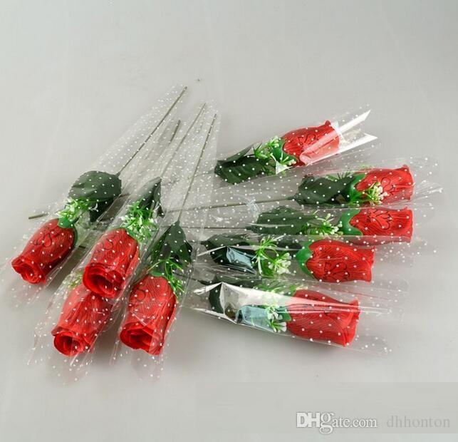 Prezzo all'ingrosso rosa singolo con amore e fragranza fiori di seta fiori artificiali sei colori scegliere HR020