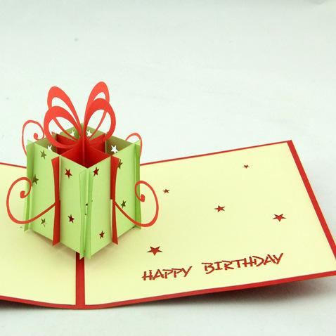 Hand Made Birthday Gift Box Greeting Card Paper Cards Wholesale