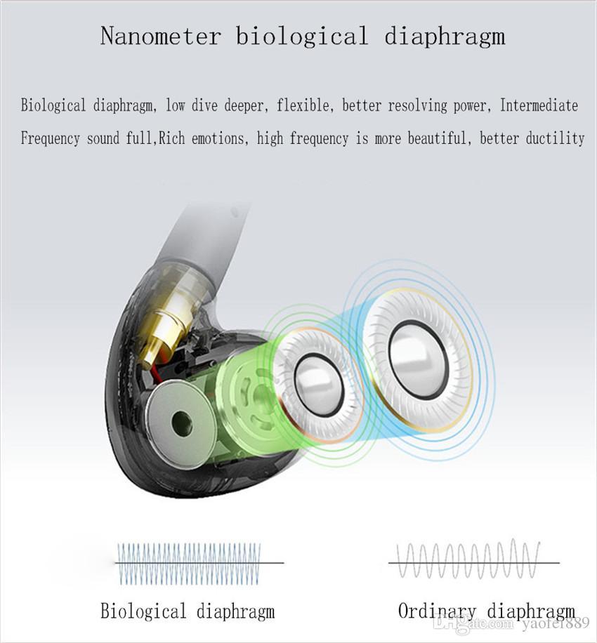 iRock A8 Double Unit Drive headset In Ear earphone Metal Bass headphone Subwoofer HIFI Earphones With MIC