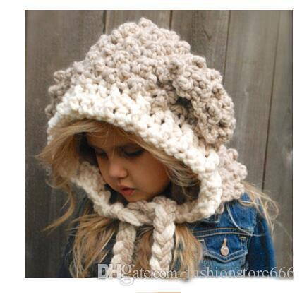 f5ab51d4e68 Winter Hats Baby Girls Handmade Kids Hat Wrap Lamp Caps Cute Autumn  Children Wool Knitted Baby Hats Baseball Hats Winter Hat From  Fashionstore666