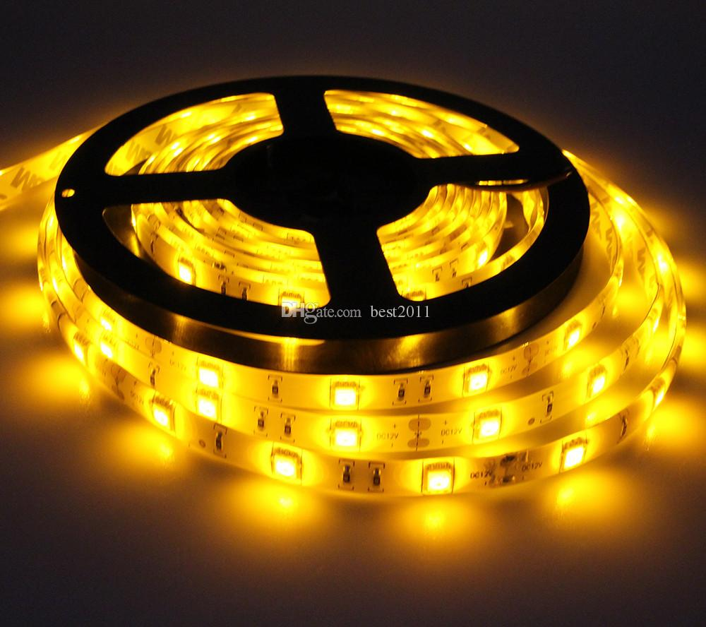 Hot Sale 5M DC12V 5050 SMD 30LED/M 150 LEDs Epoxy Resin Waterproof IP65 single Color Flexible LED Strip Light best2011