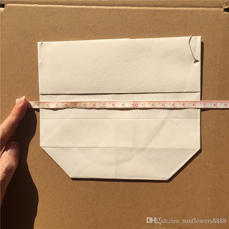 10 unids / lote X portátil manual de bricolaje bolsas de velas de linterna de papel para Navidad fiesta de barbacoa suministros de decoración de boda